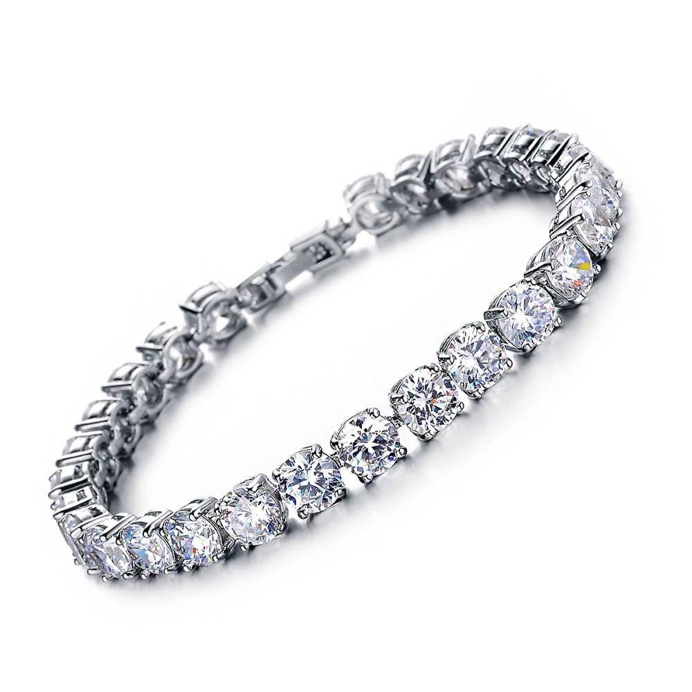 tennis eternity eve bracelet cut cz sparkling baguette diamond addiction s