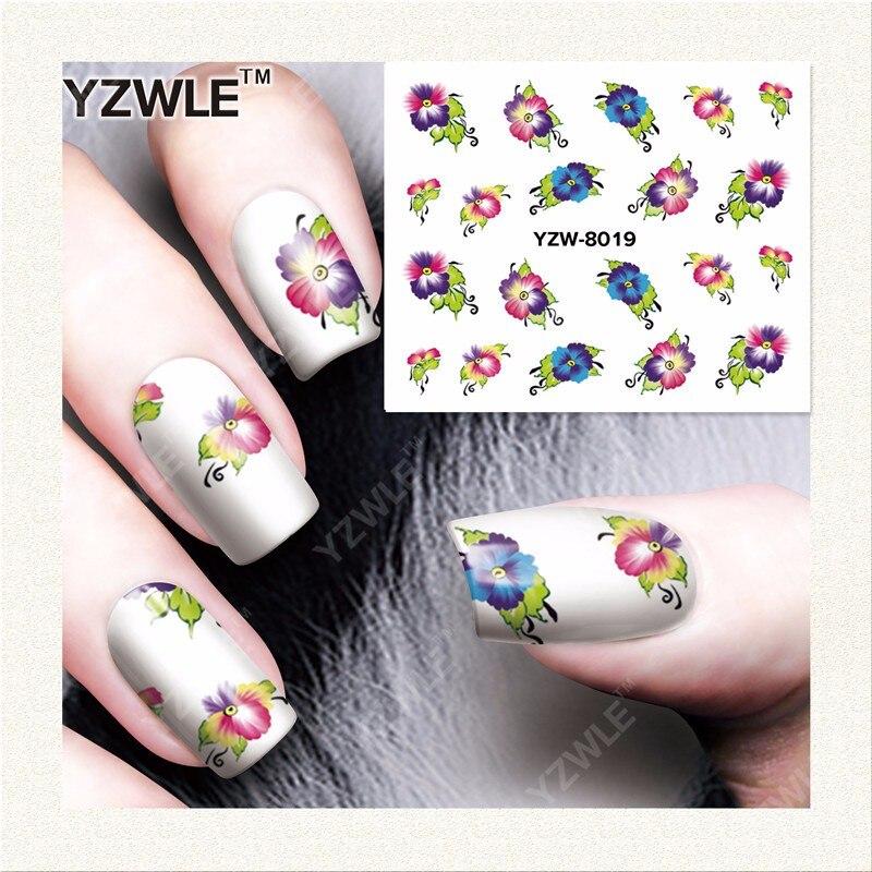 Ywk 1 Sheet Diy Designer Water Transfer Nails Art Sticker Nail