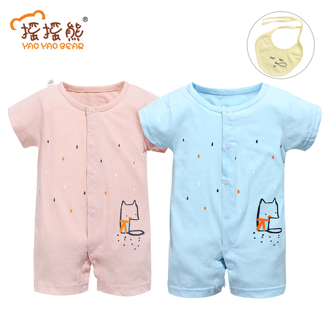 7cc29244a07e0 US $6.95 50% OFF|Cotton Baby Romper Summer Style Baby Girl Clothes Short  Sleeve Overalls NewBorn Baby Jumpsuit Infantil Baby Boy Clothing-in Rompers  ...