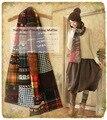 2017 новый мори девушка Эстетическое ручной высокое качество лоскутная дизайн мода и популярный Японский стиль шарф