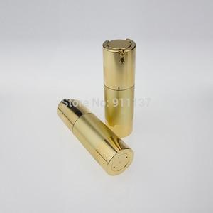 50pcs gold 30ml airless pump bottles wholesale , 30ML airless pump cosmetic packaging ,plastic 30 ml airless pump dispenser