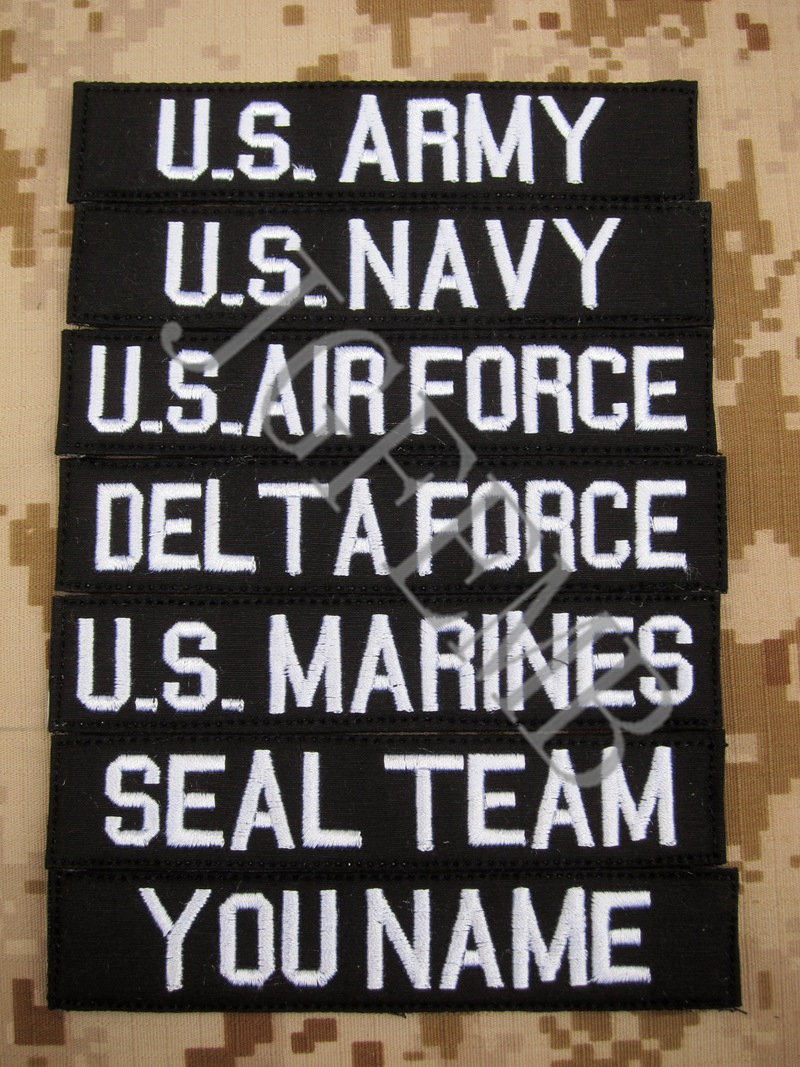 Black Custom Name tapes Chest Tapes Services Tapes moraal tactisch militair Borduur patch Badges