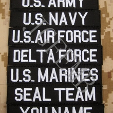 Black Custom Name tapes Chest Tapes Services Tapes morale tactical mil