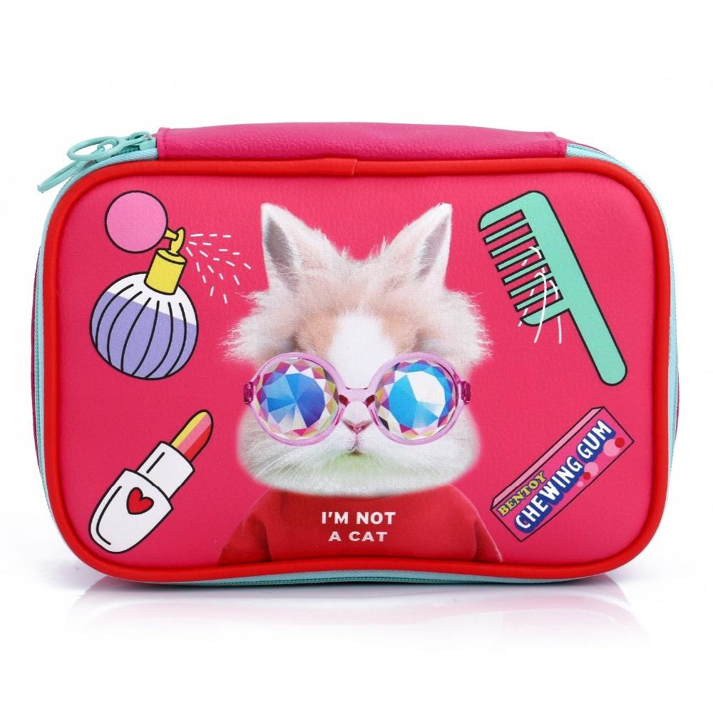 Bentoy Female Cosmetic Case Bag Makeup Wash Organizer Box Portable Toiletry Storage Pouch Travel Cartoon Make Up Handbag Korean
