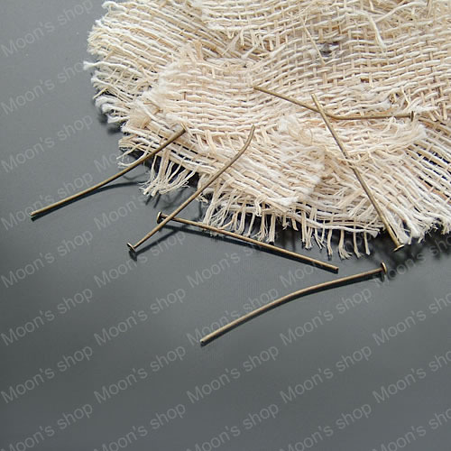 (2653)32MM Flat End Head Pin Iron Antique Bronze color diy Jewelry Accessories Jewelry Bead Making Findings