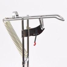 Angelzubehör Automatische Doppelfederwinkel Pole Fisch Pole Tackle Halterung Angelrute Halter Anti-Rost Stahl Werkzeuge EA14