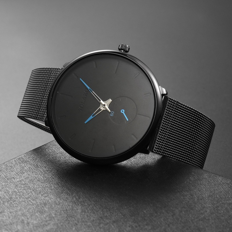 HTB17MJSboz1gK0jSZLeq6z9kVXaW DONROSIN Men Casual Slim Black Mesh Steel Wrist Sport Watch Fashion Mens Watches Top Brand Luxury Quartz Watch Relogio Masculino
