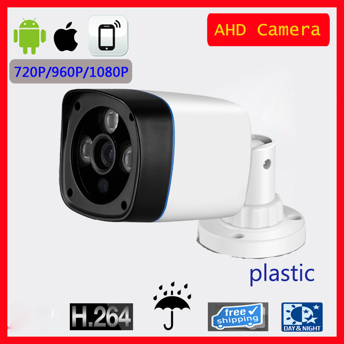 CTV Waterproof Outdoor Security Camera CMOS 720P Bullet 3.6mm Fixed Lens Plastic Infrared Night Vision CCTV Camera AHD Camera wistino cctv camera metal housing outdoor use waterproof bullet casing for ip camera hot sale white color cover case