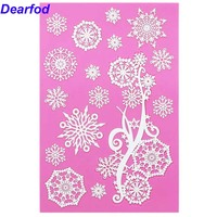 MX133 Snow Lace Mold Silicone Sugar Lace Pad Cake Brim Decoration Mold Kitchenware DIY Tool