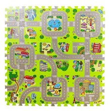 30x30cmx1cm Baby EVA foam puzzle play floor mat,Education and interlocking tiles and traffic route ground pad цены