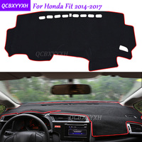 For Honda Fit 2014 2017 Dashboard Mat Protective Interior Photophobism Pad Shade Cushion Car Styling Auto