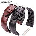Ремешок для часов из натуральной кожи для мужчин и женщин, резиновый силиконовый водонепроницаемый дышащий браслет для часов, аксессуары д...