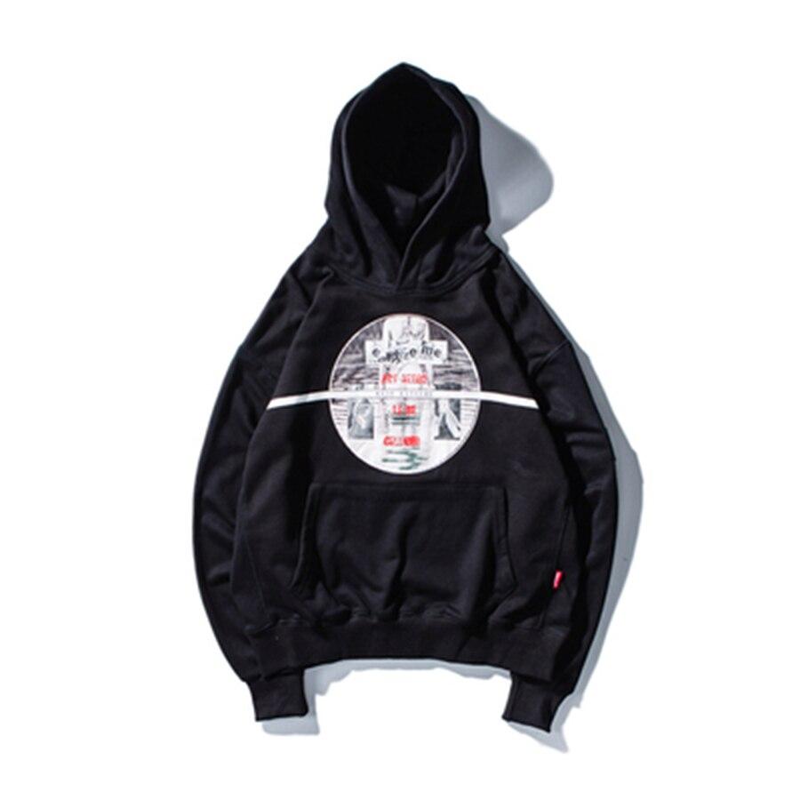 Europe et amérique Hip Hop Graffiti Hoodies Sweatshirts automne décontracté coton pull à capuche Skateboards Hoodies 40WY039