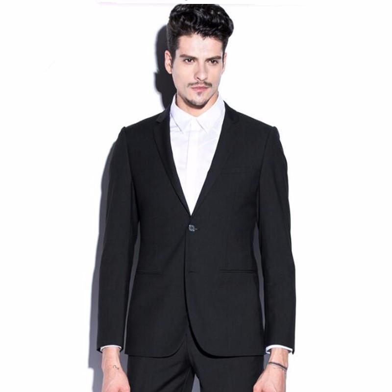 6.1Black men suits jacket new design handsome groom tuxedos jacket custom made wedding groomsman suits jacket