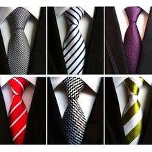 Мужские галстуки RBOCOTT, 8 см, модные, белые, черные, фиолетовые, полосатые, желтые Галстуки, красные, свадебные, для шеи, галстук для мужчин, деловой костюм