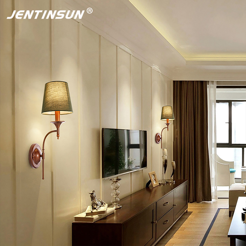 American Countryside Wall Lamp Retro Simple Individuals Nordic LED Wall Mounted Light Pastoral Bedside Lamps Living Room Bedroom