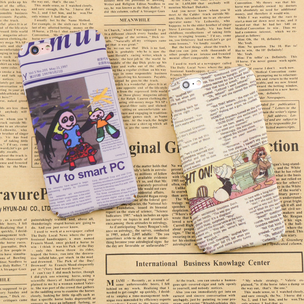 Cute Cartoon Duck Character PC Cover For iphone 6 Case For iphone 7 6 6S 8 Plus Case Fashion Hard Ultra thin Phone Back Cover