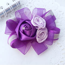 6 шт ручной работы шелковая ткань кристалл искусственного бутоньерка Роза свадебная бутоньерка на запястье цветок Свадебный церковный