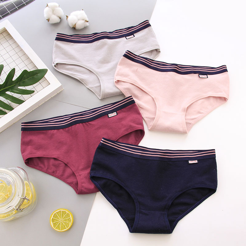 SP&CITY Simple Style Solid Cute Underwear Women Cotton   Panties   Girl Soft Physical Underwear Seamless Briefs Female Lingerie