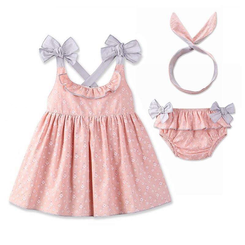 Baby Bebe Girls Jurken Set Kinderen Meisjes Mouwloze Jurk Backless - Kinderkleding - Foto 2