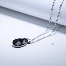 BAFFIN – collier avec pendentif en forme de poire pour femmes, Simple, larme de joie, cristaux de SWAROVSKI, couleur argent, Mini goutte d'eau