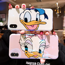 Cute cartoon Donald Duck Daisy Blue Light Soft IMD Case For iPhone XS XR XS MAX Case For iPhone X 6 6S 7 8 Plus Case цена