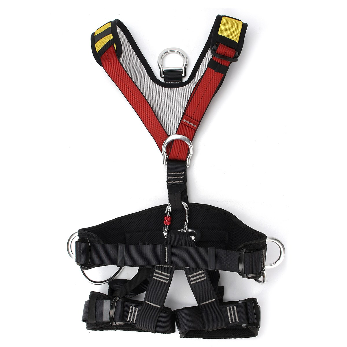 Professional Outdoor Rescue Rock Climbing Sitting Bust Belt Safety Seat Rappelling Harness Full Body Rescue Climbing Belt 25kn professional carabiner d shape safety master lock outdoor rock climbing buckle equipment
