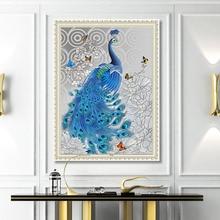 Fashion Owl 5D Diamond Painting Elegant Peacock Partial Resin DIY Embroidery Stitch Home Decoration Maison