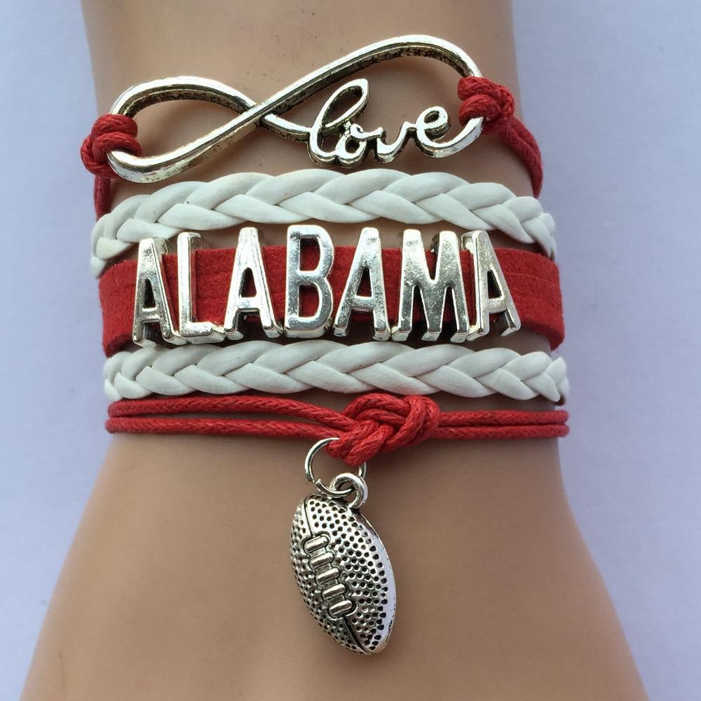 Drop Shipping Love Alabama Bracelets Nfl Football Team School Bracelet Fan S Gift In Charm From Jewelry Accessories On Aliexpress Alibaba