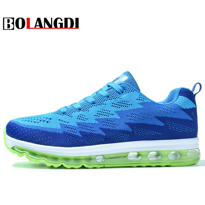 BOLANGDI New Air Cushion Running Shoes Men Female Super Light sneakers adult trainer Sports Shoes hombre zapatillas deportivas 2017brand sport mesh men running shoes athletic sneakers air breath increased within zapatillas deportivas trainers couple shoes