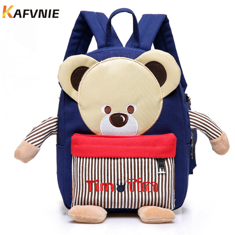 New Cute Kids School Bags Cartoon mini Bear Backpack toy for Kindergarten Boy Girl Baby Childrens Gift Student Lovely Schoolbag