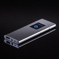Neue ultra dünne 0 44mm USB lade metall leichter heißer verkauf geschenk-in Zigarette Zubehör aus Heim und Garten bei