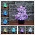 Novo 7 cores Tanque 3D Visual LED Luzes da Noite para Crianças Amigos Os Fãs de Star War como Quarto luz Da Noite Da Lâmpada Lâmpada de Mesa de mesa 3d lâmpada