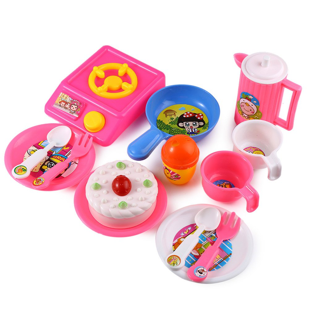 Play Kitchen Dishes simple play kitchen dishes kids house toy cooking food utensils
