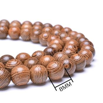 Prayer Beads Bracelet 108 Tibetan Buddhist Rosary Charm Mala Meditation Necklace Yoga lucky Wenge Wooden Bracelet For Women Men 4