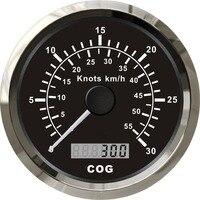 1 шт. 85 мм gps карта скорости 0 30 узлов спидометры COG 55 км/ч спидометры подходят для лодки автомобиля с gps антенной черный