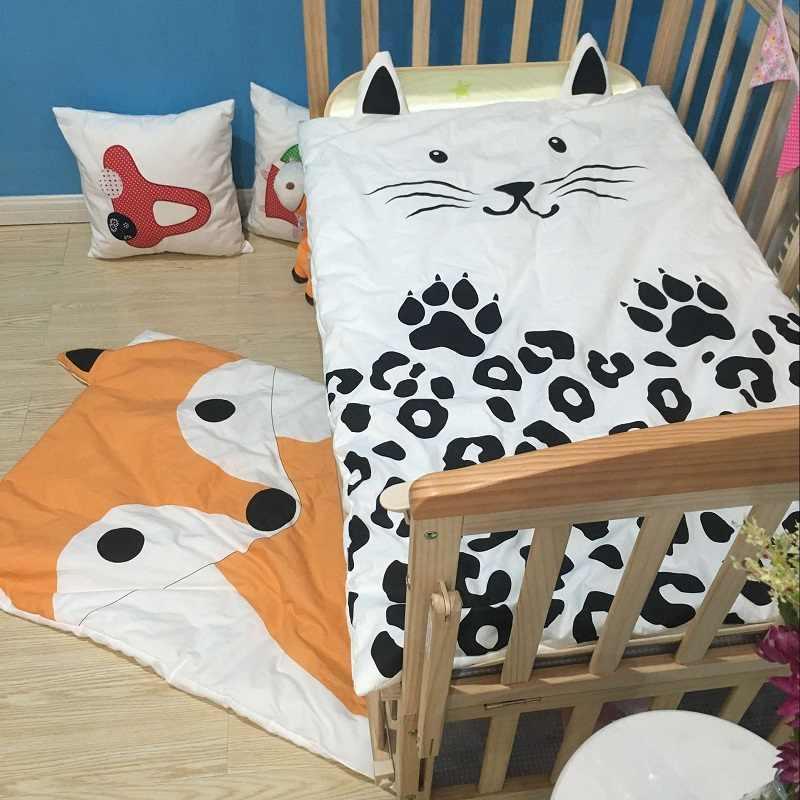 Летнее Детское хлопковое стеганое одеяло с рисунком кота, тонкое детское постельное белье для новорожденных, простыня для детей, супер мягкое одеяло, чехол для коляски 350 г