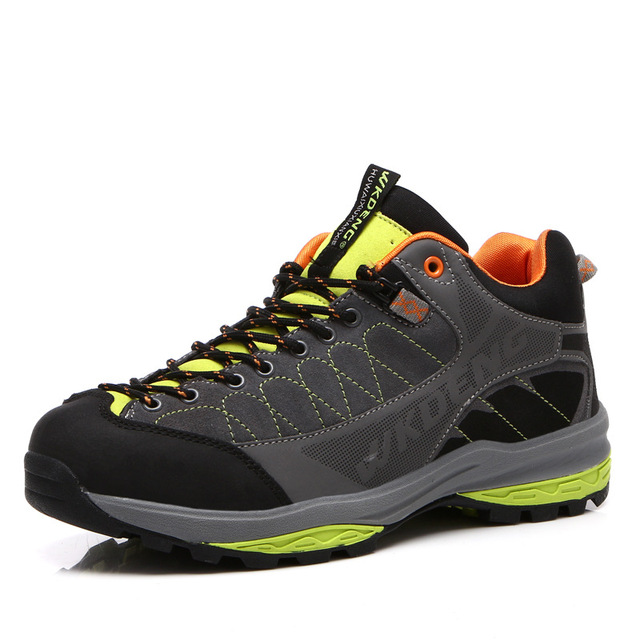 ZYNNEVA Outdoor Breathable Hiking Shoes Men Walking Trekking Shoes Sport  Rubber Anti-skidding Sneakers Big Size For male GF1113 48db619665