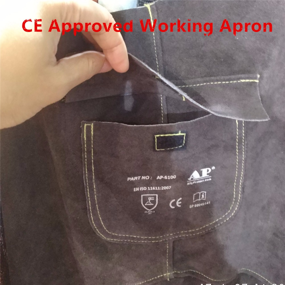 a0597f1a352e3 US $29.99 25% OFF|Welding Apron Premium Leather Welder Protect Clothing  Carpenter Blacksmith Garden Cowhide Clothing 91X58CM Charcoal Brown Color  on ...
