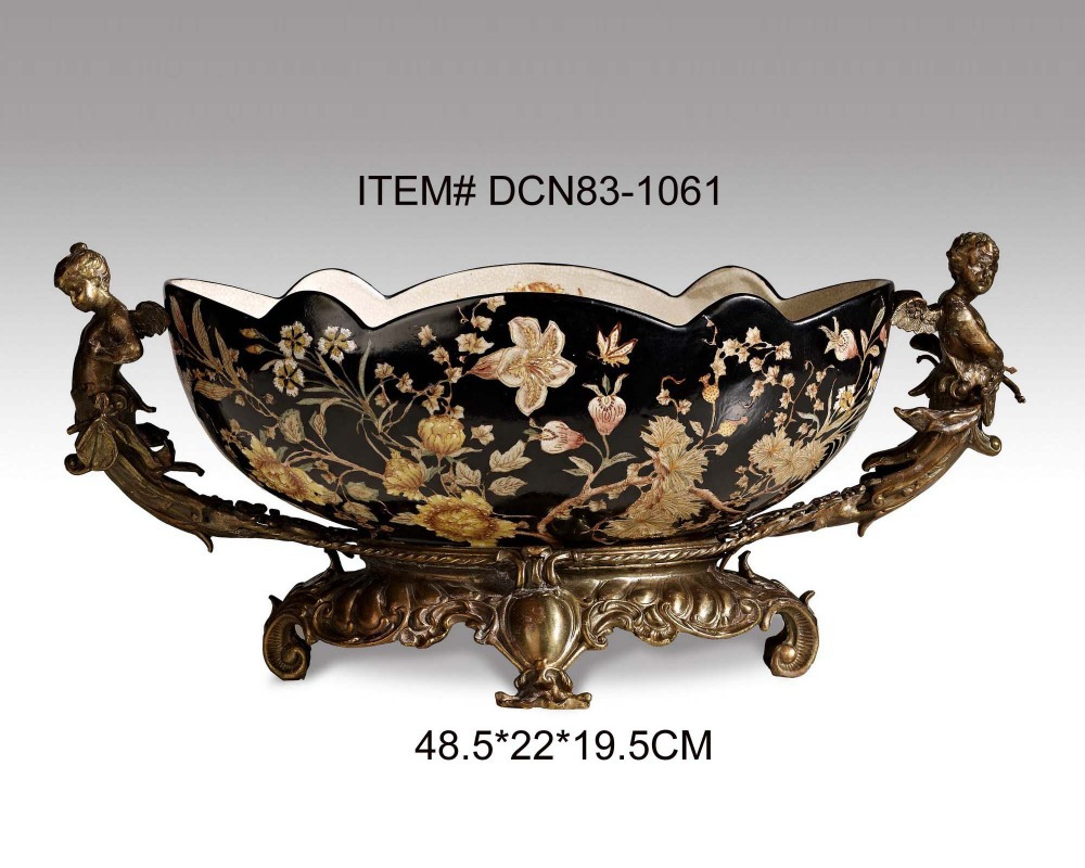 European style antique brass and ceramic angel decorative fruit bowl luxury porcelain art ornament in bowls plates from home garden on aliexpress com