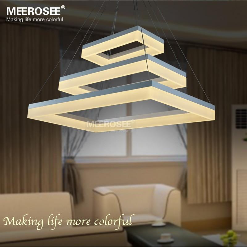 Moderna lámpara led luces de acrílico 3 rectángulos de suspensión llevÓ lámpara de araña de salón.jpg
