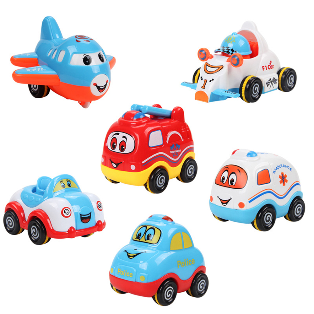 Baby Boys Cute Cartoon Car Plane Toy Mini Collectible Model Pull  # Modele Banc En Bois