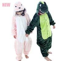 Children Kids Flannel Animal Pajamas Anime Cartoon Costumes Sleepwear Onesie Dinosaur Animal Pajamas Kids Overall Pyjamas