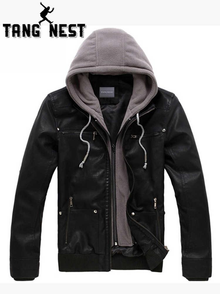 кожаная куртка с капюшоном мужская 2