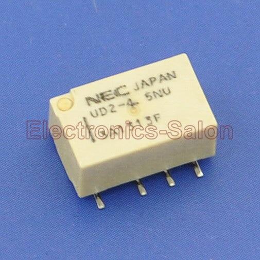 ( 2 pcslot ) UD2-4.5NU SMD Signal Relay,DC 4.5V,Ultra-miniature Flat,DPDT2 Form C