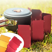 2016 Foldable 9 Plates Cooker BBQ Gas Stove Wind Shield Screen Picnic Outdoor Folding Camping Cooker Stove Wind Screen