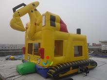 5*5M Inflatable Bouncer Digger/Luxury and High Quality Giant Excavator/Mini Excavatr for Sale