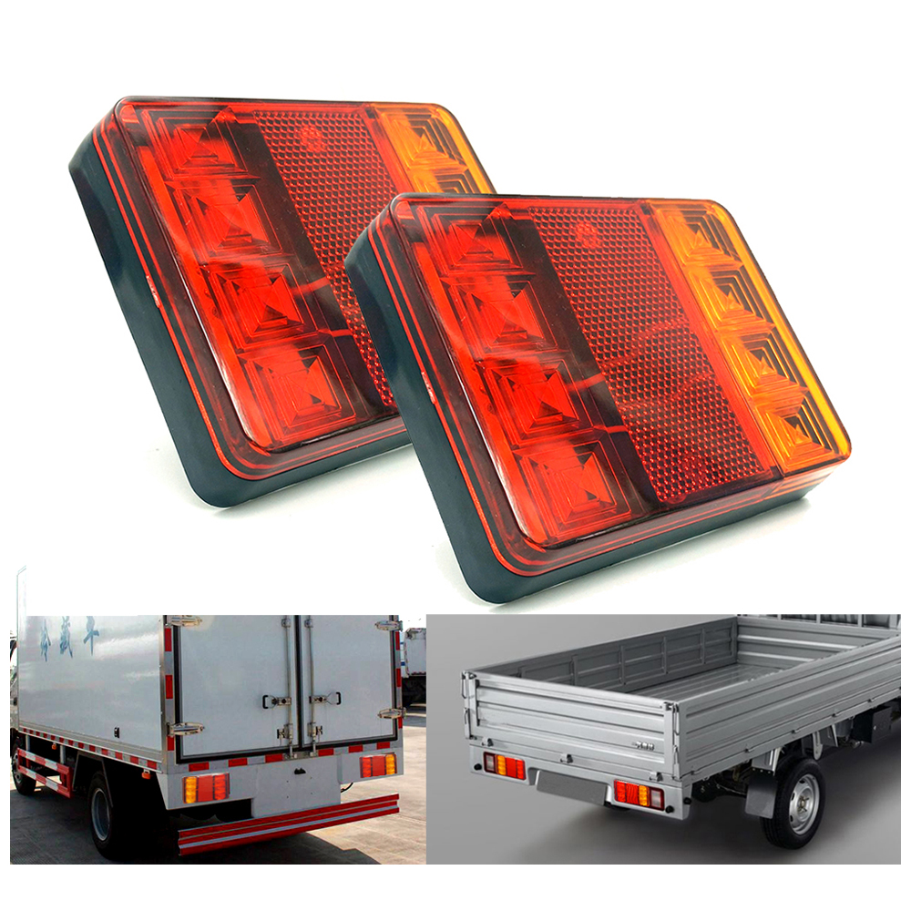 Truck Led Light Rear Tail Light Warning Parking Lights Rear Lamps Waterproof Tailight Car Parts For Trailer Caravan Caravana 12V
