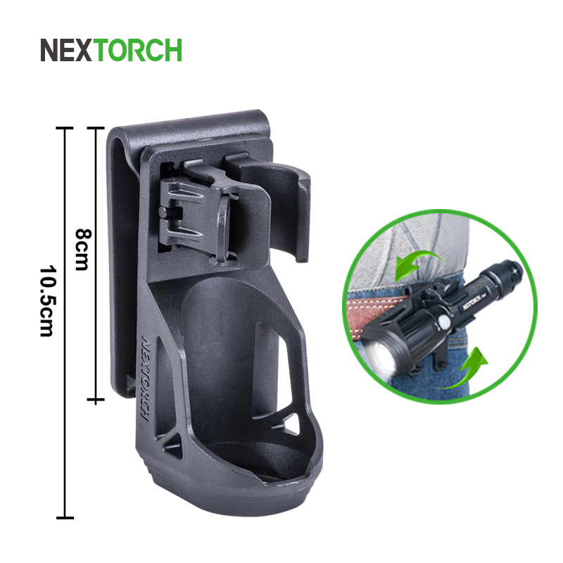 NEXTORCH 360 Degree Tactical Flashlight Holster Angle Rotatable Tactical  Duable Flashlight Holder V5 for 1