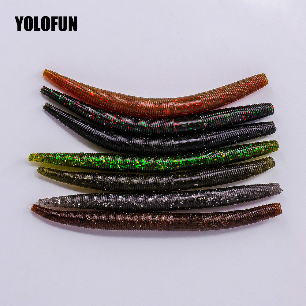 5pcs/lots Salted Senko Worm 13cm 8.5g Seven Color Silicone Stick Soft Plastic Fishing Lure For Bass Perch Pike Soft Bait 50pcs new wifreo soft lure loader locker connector fishing worm hook bait accessories for bass fishing wholesale
